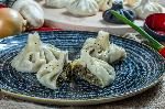 Khinkali with mushrooms