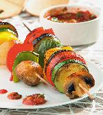 Grilled vegetables on Mangal