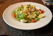 Caesar salad from chicken meat