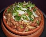 Lobio is a traditional Georgian dish of various kinds of prepared beans, containing coriander, walnuts