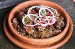 Fried chicken liver flavored with spices