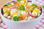 ორაგულის სალათი ბრინჯით