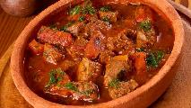 Veal with spices