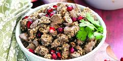 Veal heart and liver with walnuts
